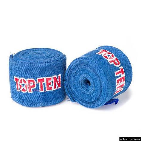 Бинт боксерский 3м, TopTen, пара, синий, красный, черный, фото 2