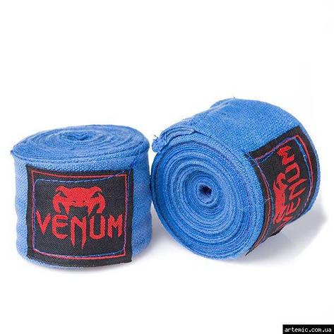Бинт боксерский 3м, Venum, пара, синий, красный, черный., фото 2