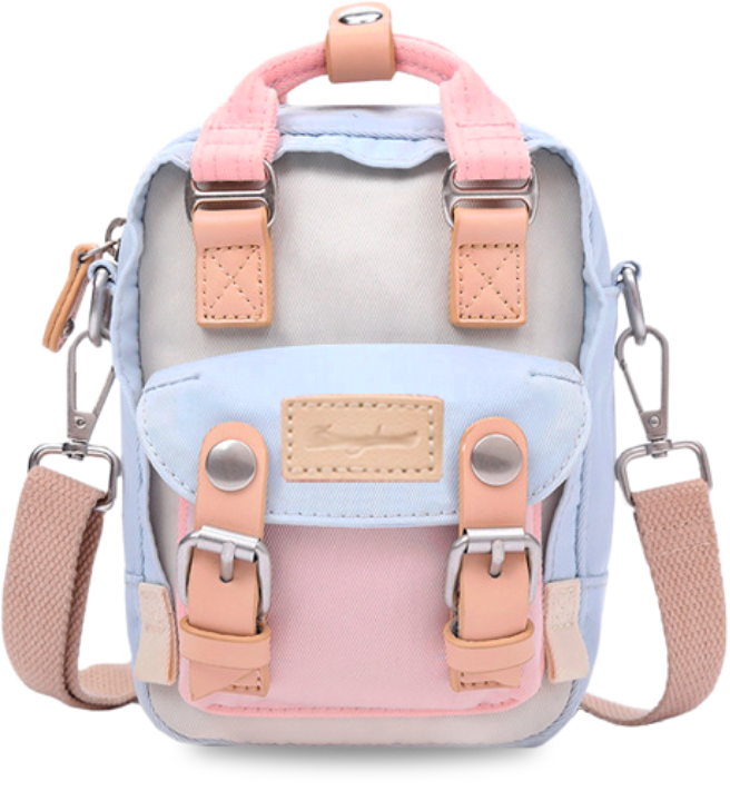 Мини рюкзак - сумочка Doughnut пудра