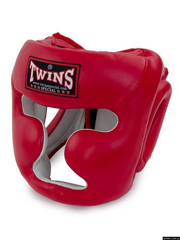 Шлем боксерский закрытый  Flex Twins Красный, S, фото 2
