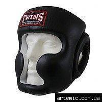 Шлем боксерский закрытый  Flex Twins Чёрный, S, фото 2