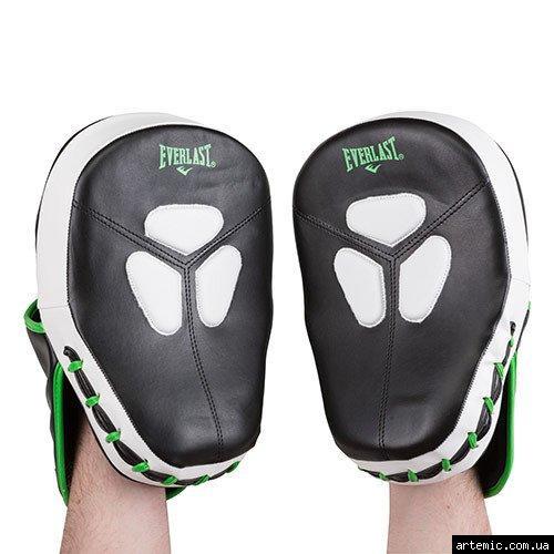 Лапа боксерская Ever, DX, зелено-белая