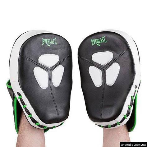 Лапа боксерская Ever, DX, зелено-белая, фото 2