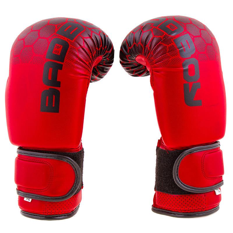 """Боксерские перчатки BadBoy""""жираф"""", DX, 12oz, красный"""