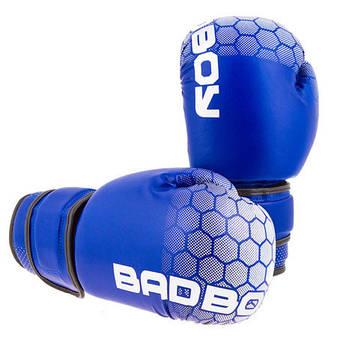"Боксерские перчатки BadBoy""жираф"", DX, 12oz синий, фото 2"