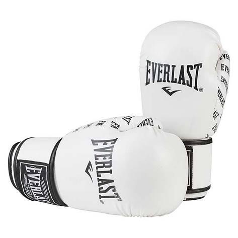 Боксерские перчатки Ever, DX-2218, 8oz белый, фото 2