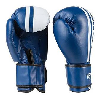 Боксерские перчатки Venum, PVC-19, 8oz синий, фото 2