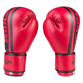 Боксерские перчатки Venum, PVC-19, 12oz красный, фото 2