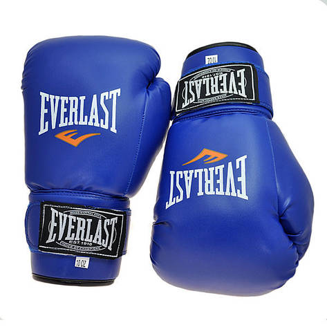 Боксерские перчатки Ever, DX-380, 8oz синий, фото 2