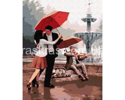 BRM30472 Картина раскраска Любовь у фонтана 40*50  Brushme  Код товара: 191232