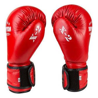 Боксерские перчатки TopTen X-2 кожа, 12oz, красный, фото 2