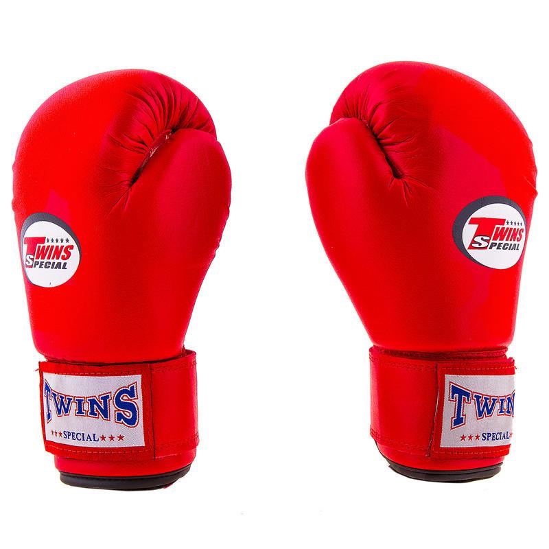 Боксерские перчатки Twins, PVC, 6oz, красный