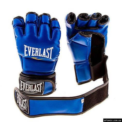 Рукопашные перчатки винил Everlast  Синий, M, фото 2