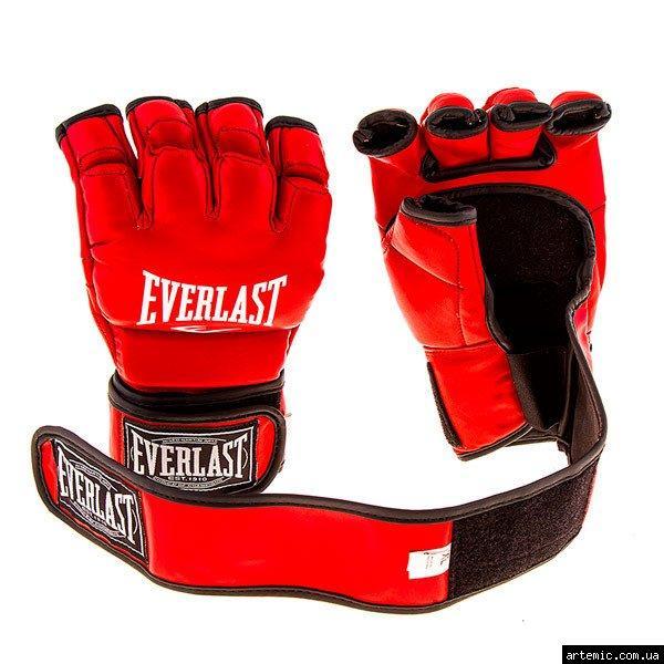 Рукопашные перчатки винил Everlast  Красный, L