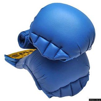 Накладки для карате BWS  XL синий, фото 2