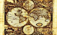 Фотообои флизелиновые 416x254 см Старинная карта мира (571VEXXXL)