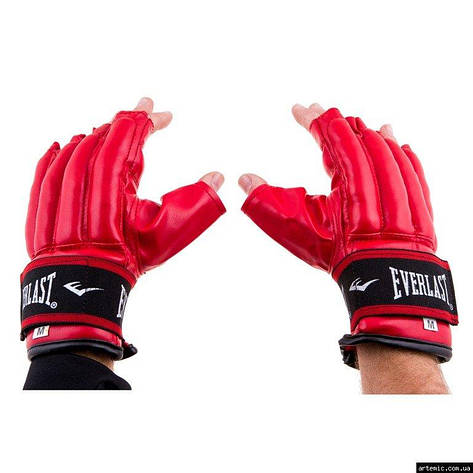 Перчатки сосиски Everlast DX RexionStrap M красный, фото 2