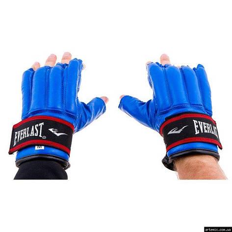 """Перчатки """"сосиски"""" Everlast кожа  M синий, фото 2"""
