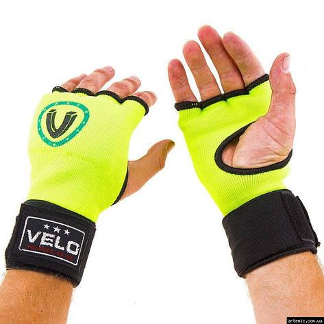 Перчатки с бинтом Velo, х/б, эластан, S, M, L, XL, фото 2