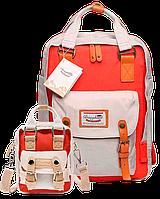 Рюкзак Doughnut коралл + мини сумочка в подарок, фото 1