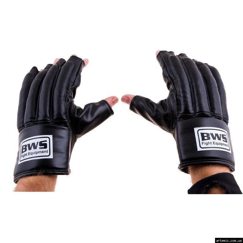 Перчатки шингарты BWS, кожа, рр. M, L,ХL,черный