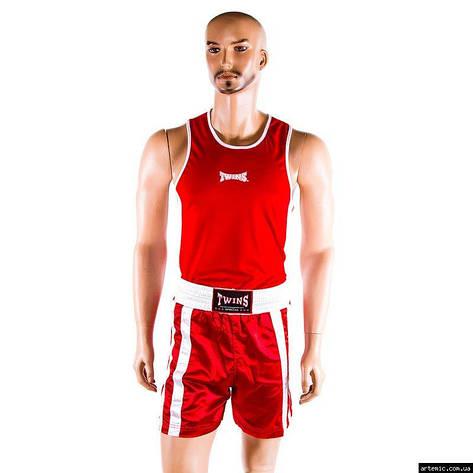 Майка,трусы боксерские Twins, красный, размер XS, фото 2