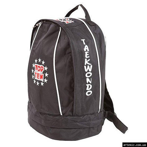 Рюкзак спортивный Top10, черный, таеквондо, 41*33 см, фото 2