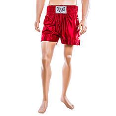 Шорты для тайского бокса, 9007, красный, размер S, M, L