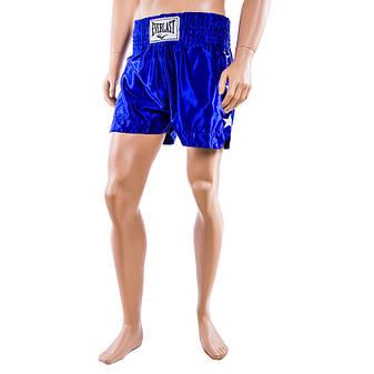 Шорты для тайского бокса, 9007, синий, размер S, M, L, фото 2