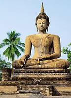 Фотообои бумажные на стену 183х254 см 4 листа: Будда Сукхотаи №378