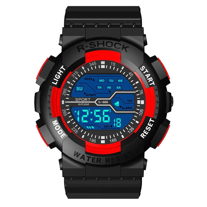 Стильные спортивные электронные мужские часы