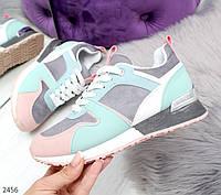 Модные женские кроссовки микс цвет