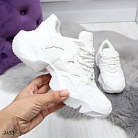 Стильные городские белые женские кроссовки