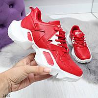 Стильные городские красные женские кроссовки