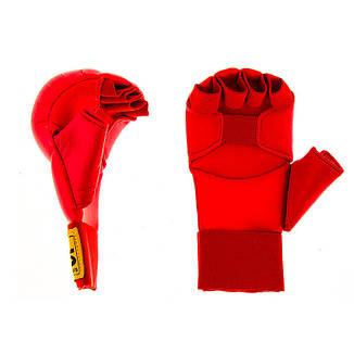 Накладки для карате BWS  S красный, фото 2