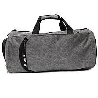 Спортивная сумка с отделением для обуви и для мокрой одежды Sportсерая, фото 1