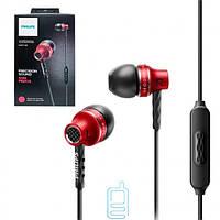 Наушники с микрофоном Philips SHE9100 красные