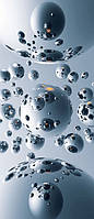 Фотообои бумажные на дверь 86х200 см 1 лист: Серебряные шары №518, фото 1
