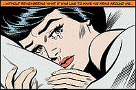 Фотообои бумажные на стену 115х175 см 1 лист: Женщина плачет №632