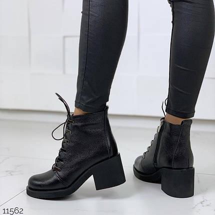 Короткие кожаные ботинки женские, фото 2