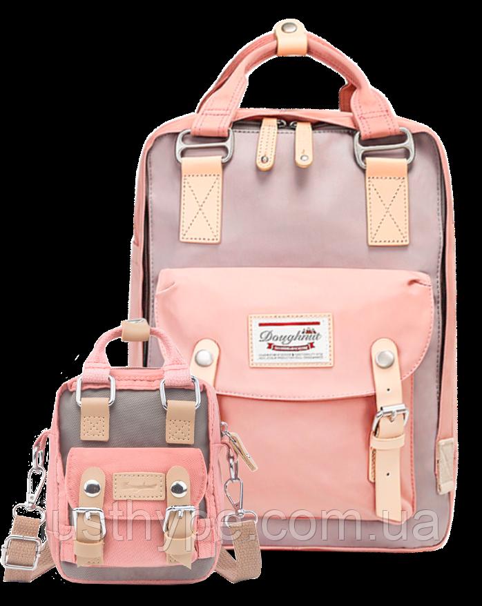 Рюкзак Doughnut розовый + мини сумочка в подарок