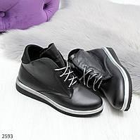 Удобные женские ботинки из натуральной кожи
