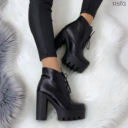 Ботинки женские на платформе и каблуке, фото 2