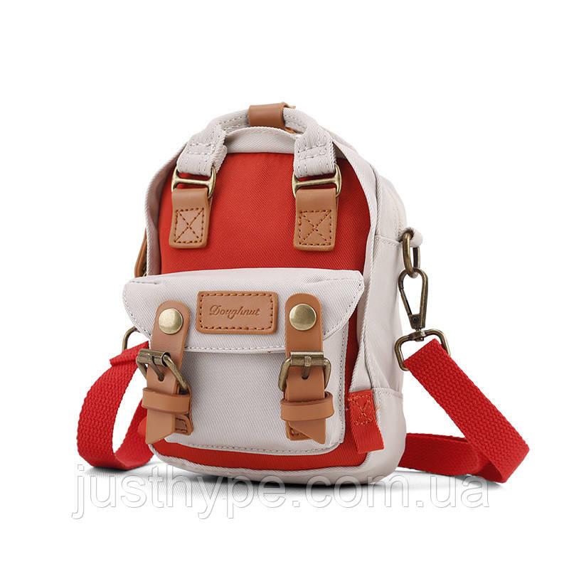 Мини рюкзак - сумочка Doughnut коралл