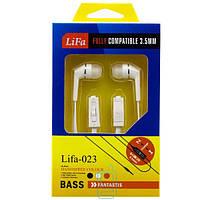 Наушники с микрофоном Lifa-023 белые