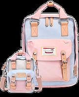 Рюкзак Doughnut пудра + мини сумочка в подарок, фото 1