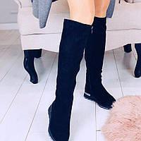 Женские высокие сапоги с широким голенищем, фото 1