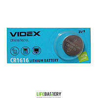 Батарейки Videx CR1616 1шт