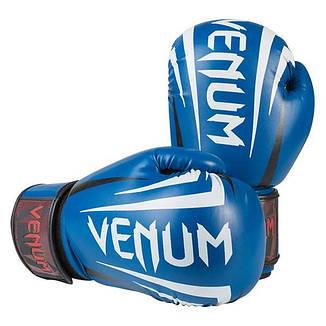 Боксерские перчатки Venum, DX, 12oz синий, фото 2