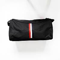 Спортивная сумка маленькая с плечевым ремнем черная, фото 1